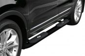"Image may not reflect your exact vehicle! Aries® - 4"" Black Powdercoated Oval Side Bars"