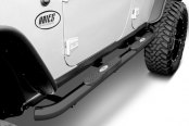 "Image may not reflect your exact vehicle! Aries® - 3"" Pro-Series Black Round Step Bars Installed"