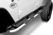 "Image may not reflect your exact vehicle! Aries® - 3"" Pro-Series Stainless Steel Round Step Bars"