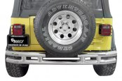 "Aries® - 3"" Stainless Steel Rear Tubular Bumper - Installed"