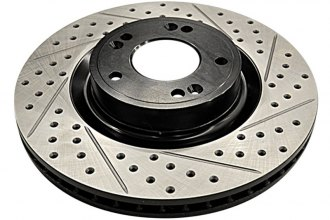 ARK Performance® BR0700-103F - Drilled and Slotted Rotors
