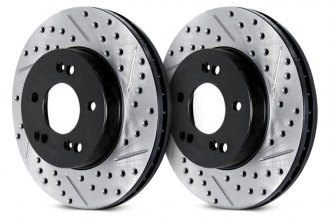 ARK Performance® - Drilled and Slotted 1-Piece Front Brake Rotors