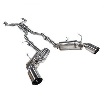 ARK Performance® - GRiP™ 304 SS True Dual Cat-Back Exhaust System with Split Rear Exit