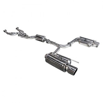 ARK Performance® - DT-S™ 304 SS True Dual Cat-Back Exhaust System with Split Rear Exit