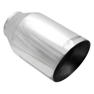ARK Performance® - 304 SS Round Resonated Angle Cut Weld-On Polished Exhaust Tip