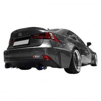 ARK Performance® - Solus Fiberglass Rear Wide Over Fenders and Extensions (Unpainted)