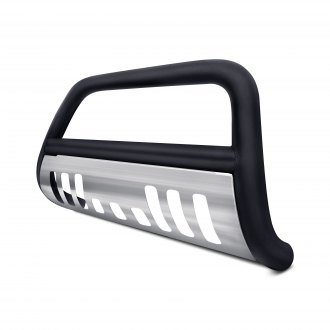 "Armordillo® - 3"" Black Bull Bar with Brushed Skid Plate"