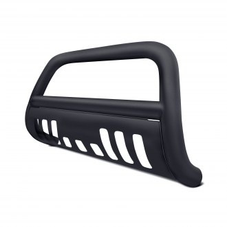"Armordillo® - 3"" Black Bull Bar with Black Skid Plate"