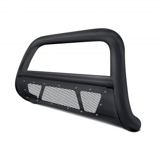 "Armordillo® - 3"" MS Series Black Bull Bar with Mesh Skid Plate"