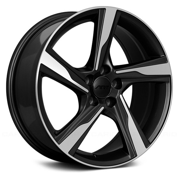 ART Replica® - 18 x 8 5 Spiral-Spoke Gloss Black with Machined Face Alloy Factory Wheel