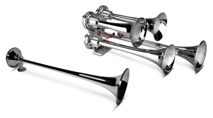 Air Horn Kits With 1 To 5 Trumpet Pieces