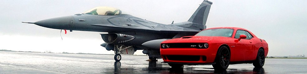 American V8 Performance Car and Jet