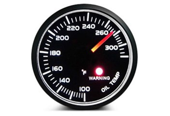 Oil Temperature Gauge With Steady Coolant Temperature