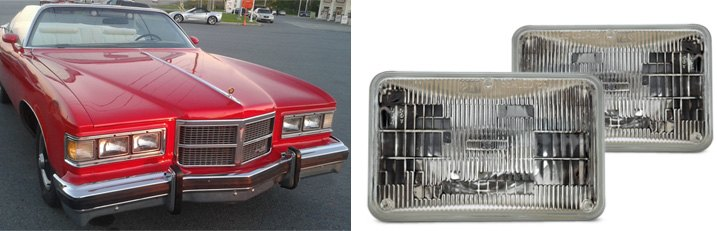 Car Equipped With Sealed Beam Headlamp Assemblies