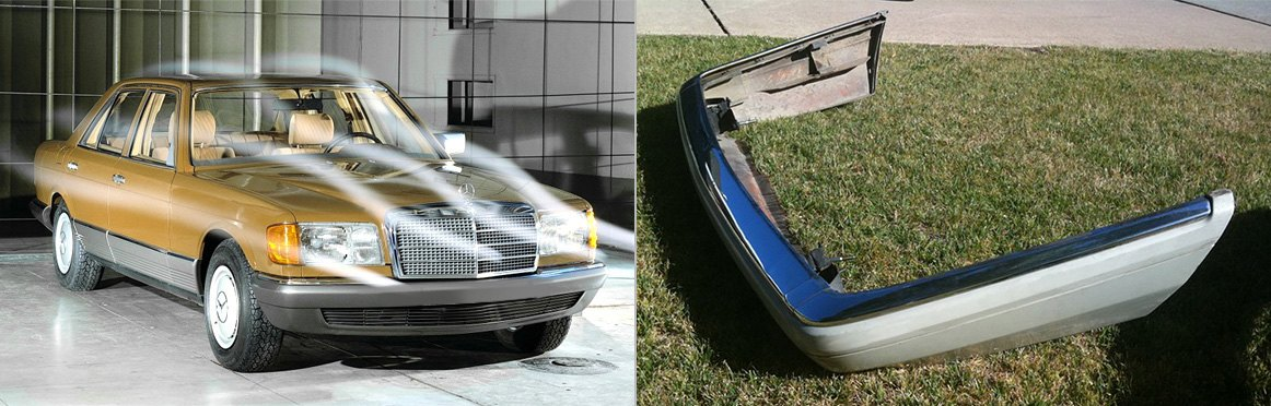 Mercedes With Plastic Bumper Cover