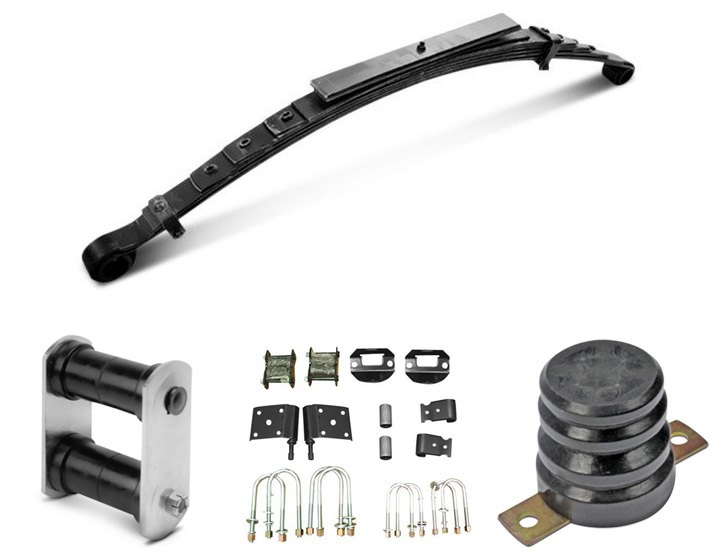 Shackles / Bump Stops For OEM Style Leaf Springs