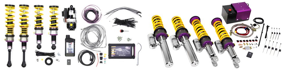 KW Suspensions DDC Coilover Lowering Kit And Hydraulic Coilover Lift System