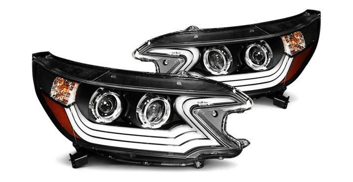 Set Of Anzo USA Plank Style Headlights