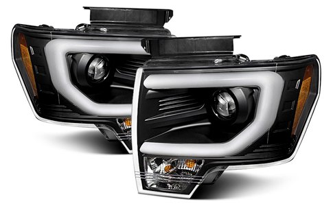 Spyder Black Headlights