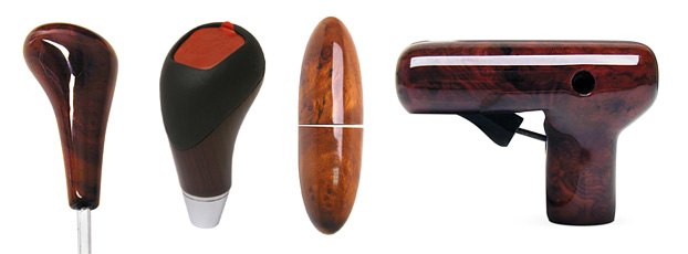 URO Parts Custom Wood-Grain Shift Knobs