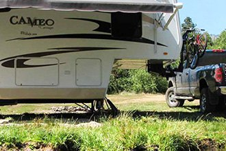 Dinghy Towing Is The Answer When The RV Is At Camp