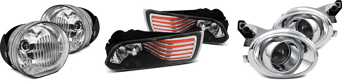 Crown Replacement Fog Lights Spyder Euro Fog Lights Spec-D Factory Style Fog Lights