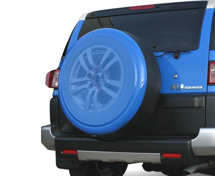 Blue Translucent Spare Tire Cover