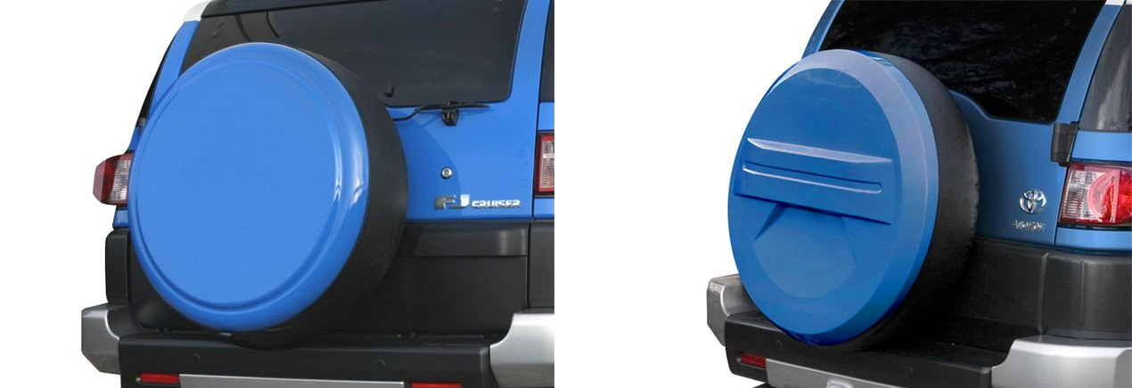 Blue Boomerang Rigid Tire Covers