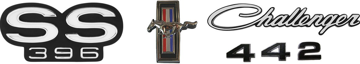 Goodmark Classic Muscle Cars Grille Emblem Reproductions