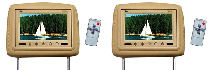 Tview Headrest TFT Monitor With IR Transmitter