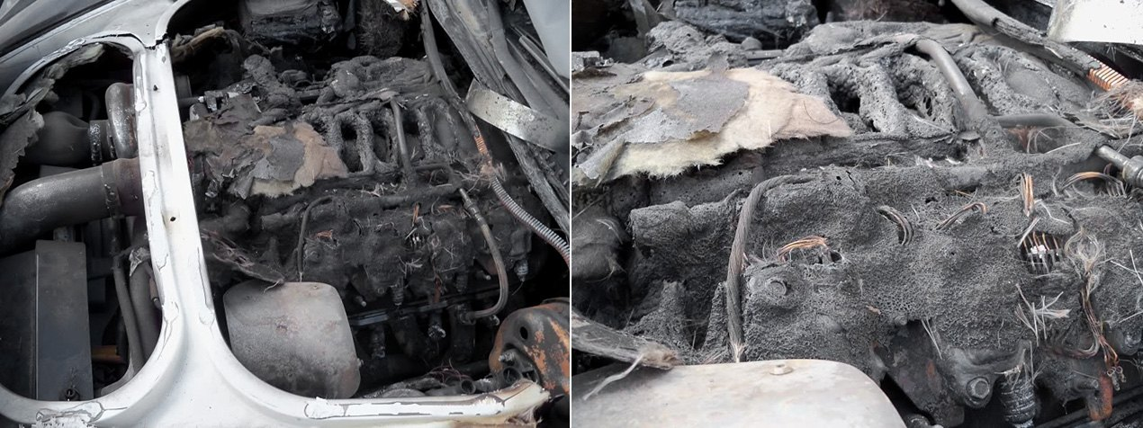 Look Of Engine Bay After Fire