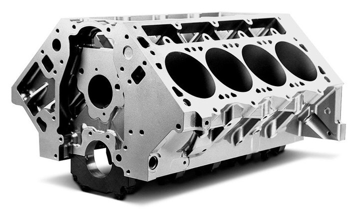 Cast Iron Block Of Typical V8 Engine Block