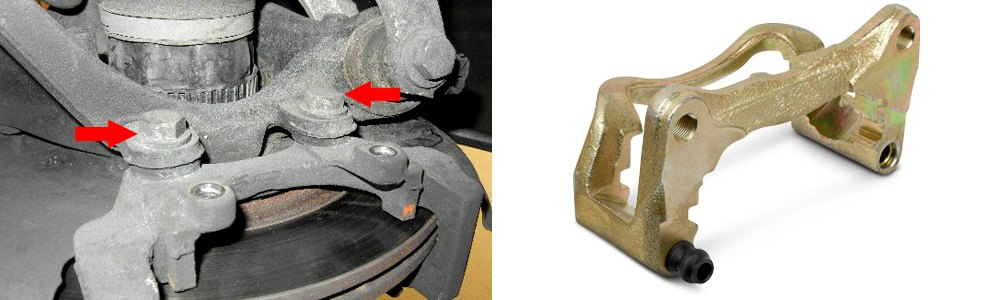 Caliper Pin Bolts Removal and Typical Caliper Mounting Bracket