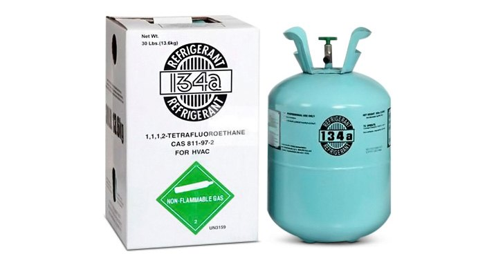 R-134a Refrigerant In 30-lb. Tanks