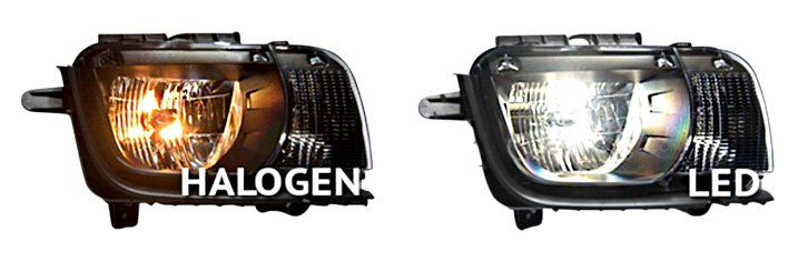 Headlight Assemblies With LED/Halogen Bulbs