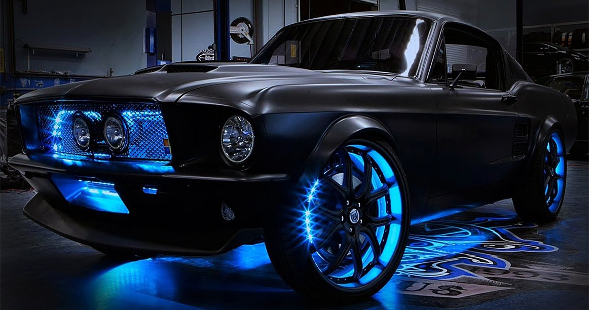 LED Underbody Lights On Ford Mustang