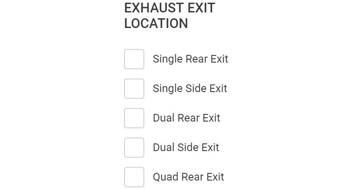 Exhaust Exit Locations Table