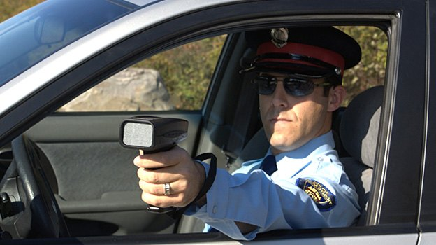 Radar Laser Gun In Use