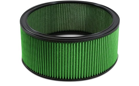 Green Filter Color Match Round Air Filter
