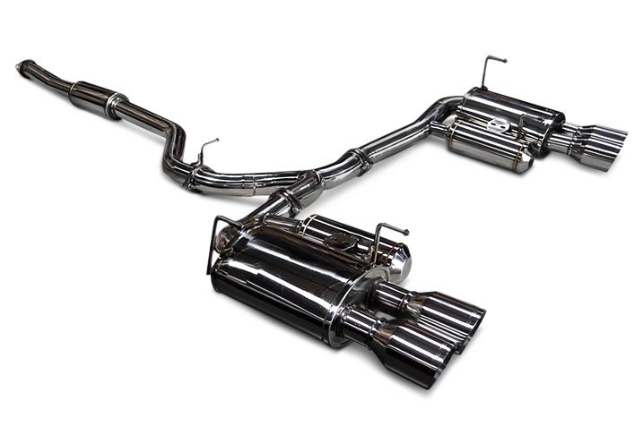Exhaust System With Split Rear Design