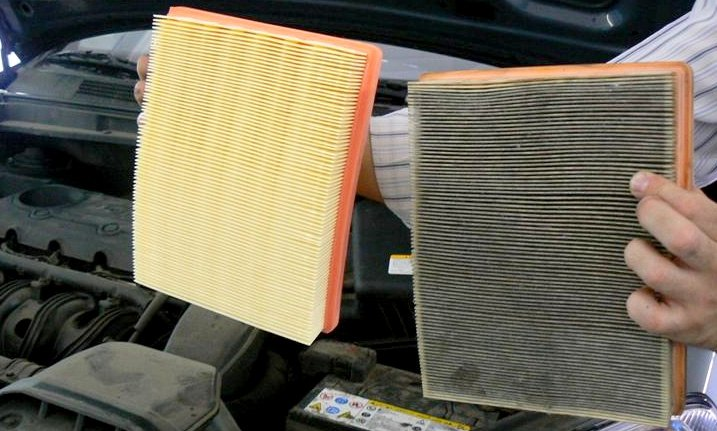 New Engine Air Filter Vs Old One