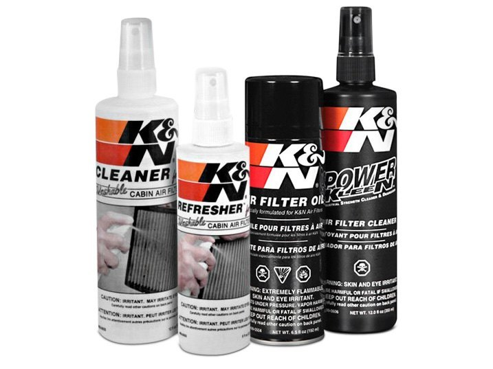 Typical Cleaning Kit For Cotton Air Filters