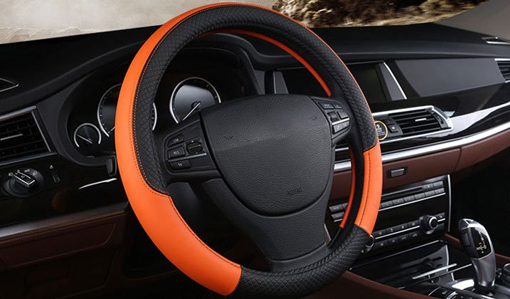 Bright Vinyl Steering Wheel Cover