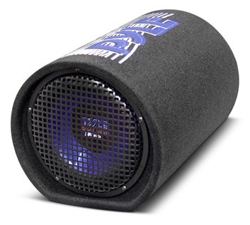 Pyle 8-Inch Blue Wave Carpeted Subwoofer Tube