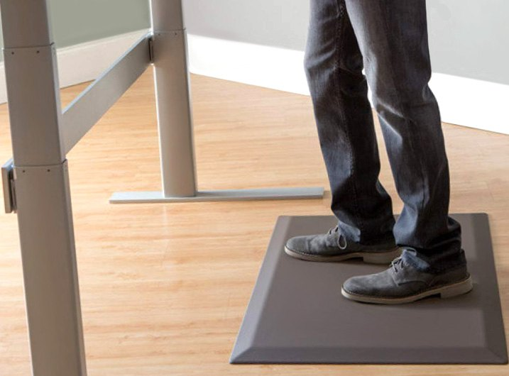 Man Standing On Anti-Fatigue Mat