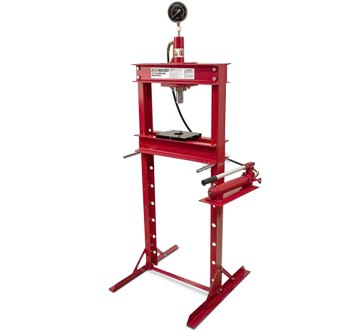 OEM Tools 12-Ton Hydraulic Press With Gauge