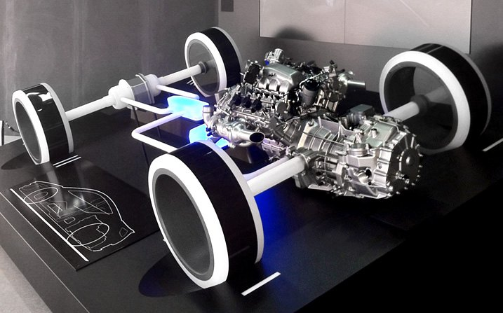 The Mockup of A 1991 Acura NSX Powertrain