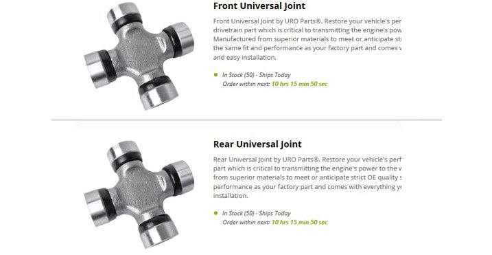 U-Joints: Identification, Selection, and Replacement