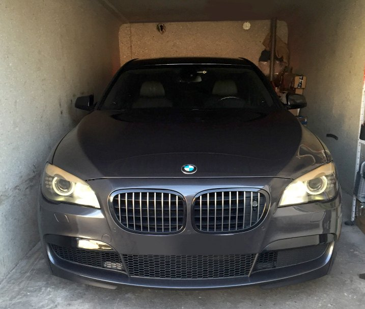 BMW In Extremely Narrow Garage
