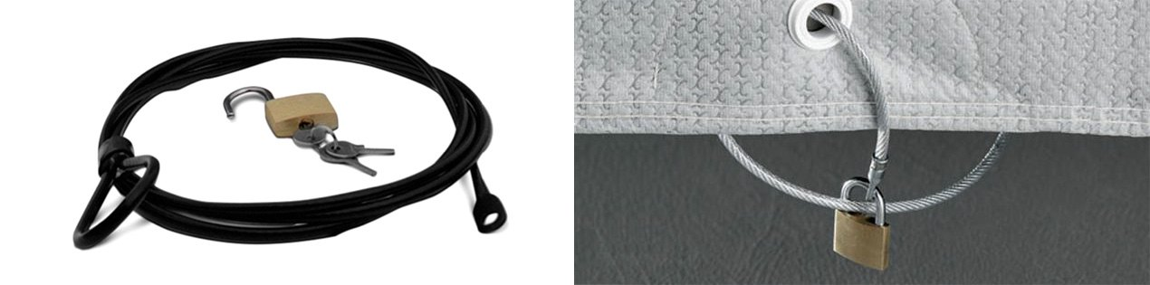 Lock And Cable Kit For Outdoor Car Cover